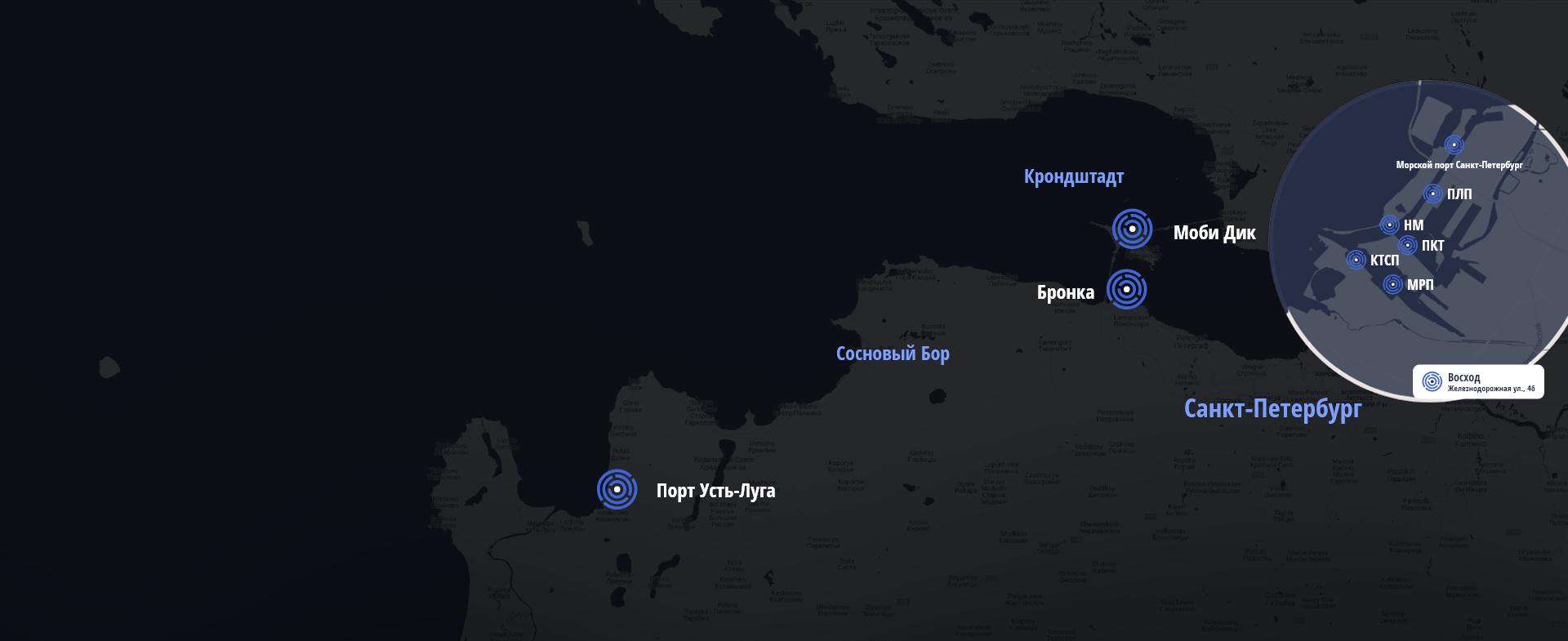 Работаем с лучшими<br /> портами Санкт-Петербурга